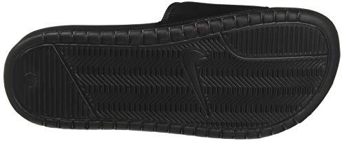 Nike Jdi black Uomo Benassi white Bianco Ciabatte black 100 Tr5Tw0qx