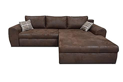 Xxl sofa mit bettfunktion  Ecksofa Oxford Eckcouch Sofa Couch mit Bettfunktion Big XXL ...