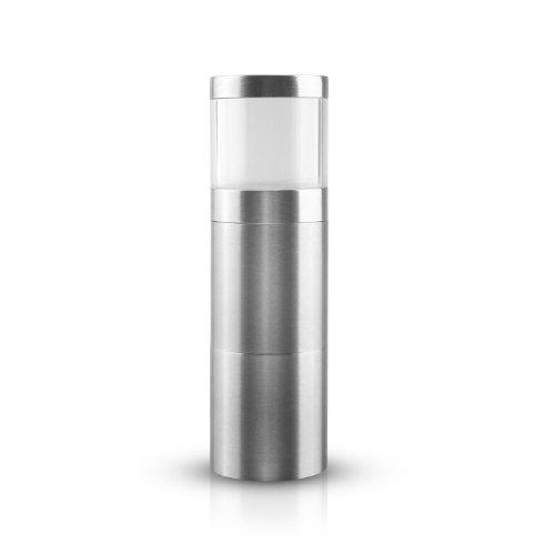 AdHoc PM87 Muskatmühle Muskatino, hochwertig und präzise aus Edelstahl /Acryl, Ø 3,8 cm, H: 12,50 cm
