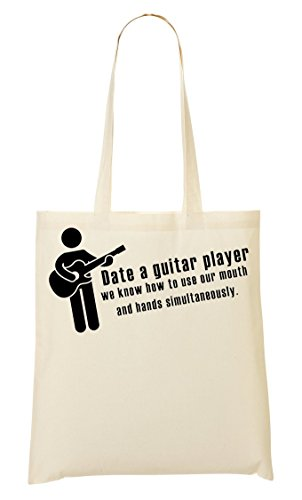 Date A Guitar Player Bolso De Mano Bolsa De La Compra