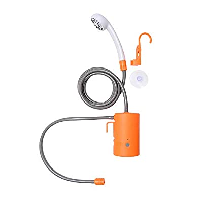 Portable Outdoor Shower, USB Rechargeable Camping Shower with 3 LED Lights & 2 Flow Mode, 4400mAh Battery Powered Shower Pump for Hiking/Backpacking, Travel, Beach, Pet, Flowering, IPX7 Waterproof