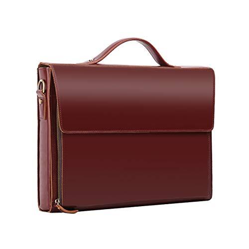 Leathario Leather Briefcase for Men Leather Laptop Bag Shoulder Messenger Bag Business Work Bag ()