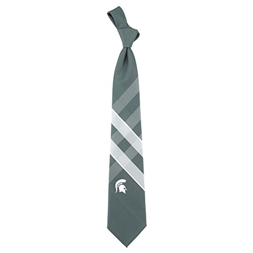 Michigan State Spartans Grid Neck Tie with NCAA College Sports Team Logo
