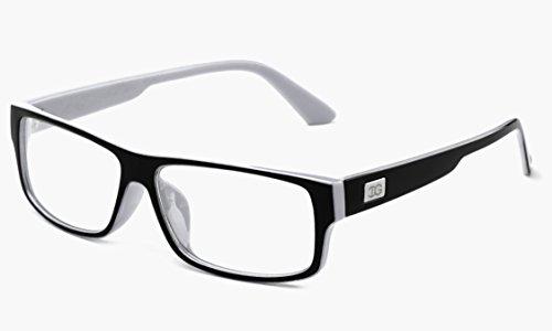 Glasses Clear Plastic White Kayden Newbee Lens Fashion Fashion Retro Black Unisex 8wIBx