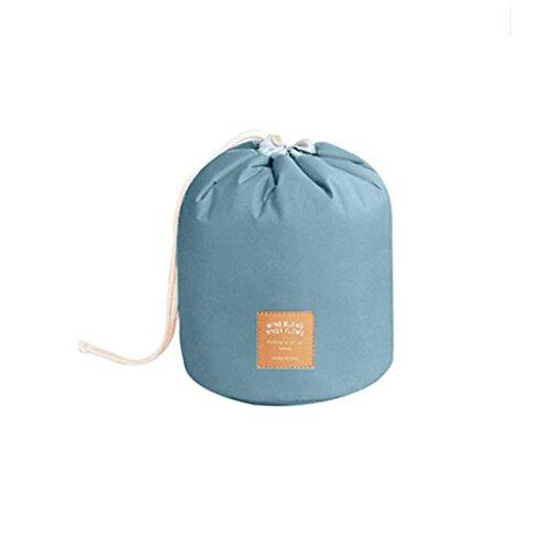 Poluck Travel Restroom Barrel Cosmetic Bag multi Makeup Bags Waterproof Organizer Multifunctional Cylinder Toiletry Bag (A)