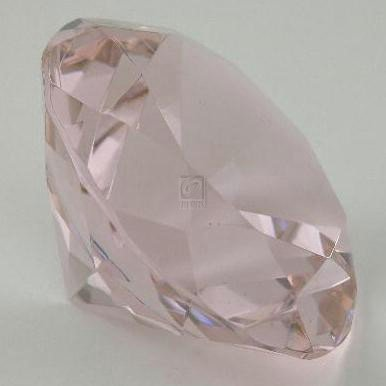 OPTIC CRYSTAL DIAMOND PAPERWEIGHT, PINK