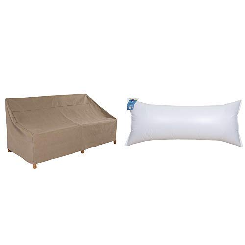 Duck Covers Essential Patio Sofa Cover, 93-Inch with Duck Dome Airbag, 84''L x 36''W