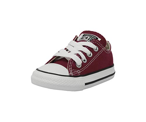 Converse Girls' Chuck Taylor All Star 2018 Seasonal Low Top Sneaker, Maroon, 2 M US Infant]()