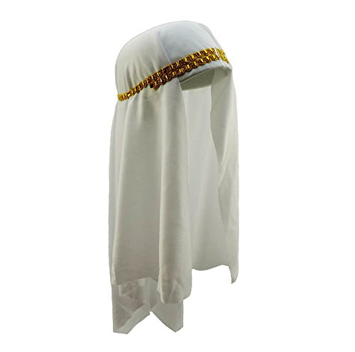 Lawrence Of Arabia Fancy Dress Costume (Loftus International Arabian Keffiyeh Prince Sheikh Headdress Scarf White)