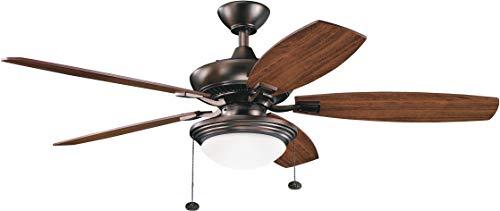 Kichler 300016OBB 52-Inch Canfield Select Fan, Oil Brushed - Kichler Ceiling Fan Brushed