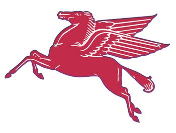Mobil Pegasus Flying Red Horse Sign- 15