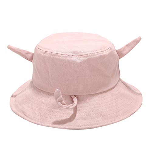 hositor Sun Hats for Women, Women Bob Cap Hip Hop Outdoor Sports Summer Ladies Beach Sun Fishing Bucket Hat Pink ()