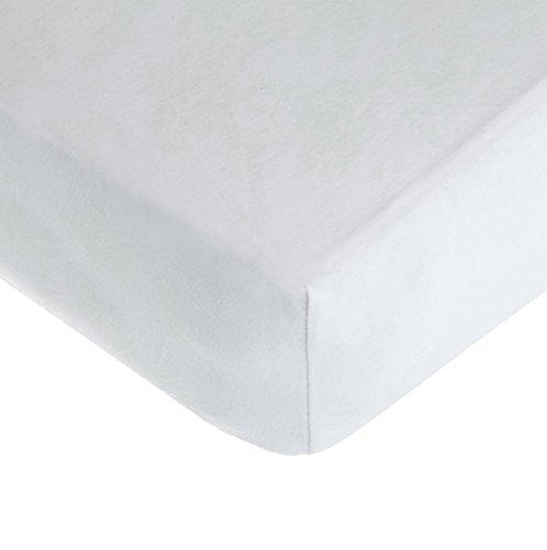 "American Baby Company 100% Cotton Jersey 7.5"" Extra Deep Pocket sheet designed for 5"" Mini-Crib Mattress, White"