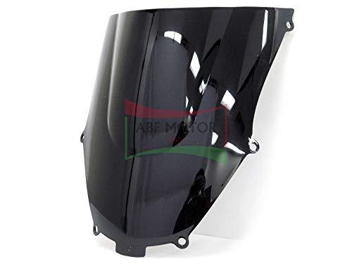 Protek ABS Plastic Injection Black Smoke Double Bubble Transparent Windscreen Windshield for 2000 2001 2002 2003 Kawasaki Ninja ZX9R ZX900F