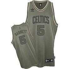 adidas Kevin Garnett Boston Celtics #5 Army Green Field Issue Jersey