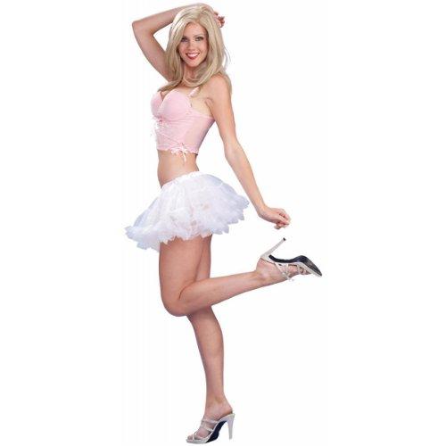 Micro Mini Costumes (Forum 10-Inch Micro Mini Crinoline, White, One Size)