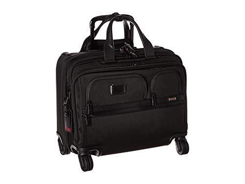 TUMI - Alpha 3 Deluxe 4 Wheeled Laptop Case Brief - 17 Inch Computer Brief for Men and Women - Black