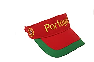 Portugal Red Visor Embroidered Santa Maria Flag Hat Cap ... Adult Size ... New