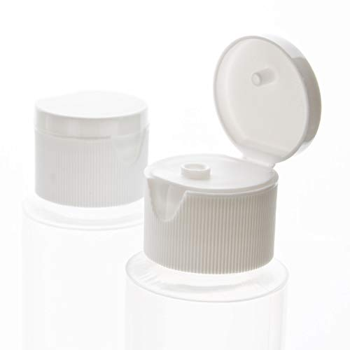 2oz Clear Plastic Empty Bottles With Flip Cap Bpa Free