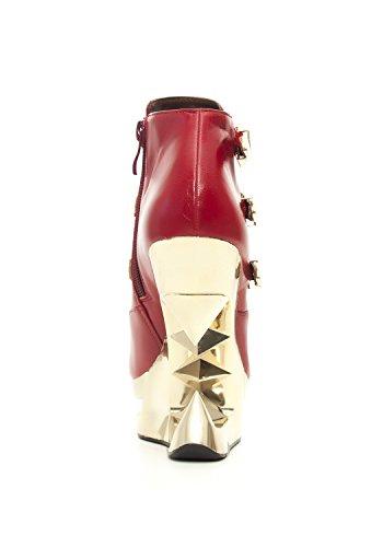 Hades Shoes - Stivaletto Luccicante Con Zeppa Dorata Da Iceberg