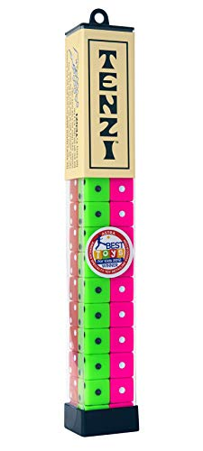 (TENZI Dice Party Game - A Fun, Fast Frenzy for the Whole Family - 4 Sets of 10 Colored Dice with Storage Tube - Colors May Vary)