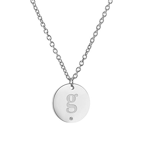 AIJIAO Initial Letter G Disc Coin Necklace Jewelry A to Z Womens Girls (Letter G Costume Ideas)
