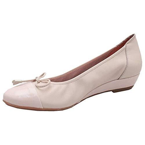 Ballet Wedge Soft Leather Low Beige Pump Sabrinas 1IwqUU