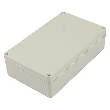 Amazon.com: eDealMax 200mm x 120mm x 55mm Rectangular de plástico impermeable DIY Caja de conexiones Caja gris: Electronics