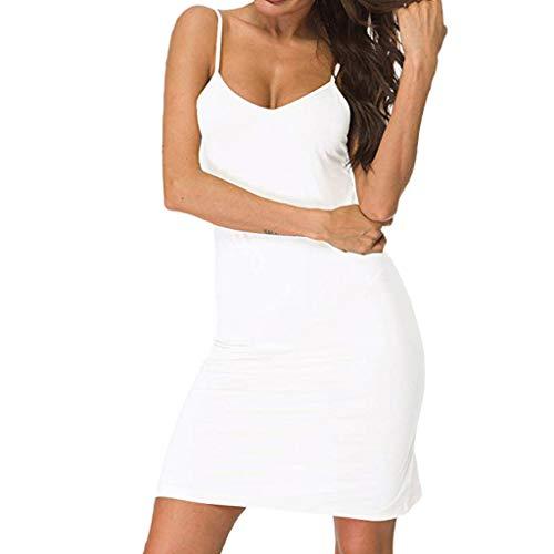 Console 34' Bathroom Sink - FEDULK Womens Casual Strap Dress Plain V Neck Slim Sleepdress Comfort Fit Chemise Nightdress Mini Dress(White, XX-Large)