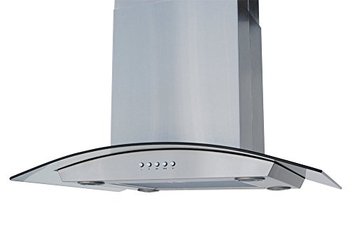 Windster Hood HI30SS Residential Stainless Steel Island Glass Range Hood Set, 30-Inch