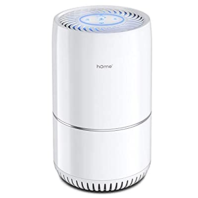 hOmeLabs Air Purifier for Home, Bedroom or Office - True HEPA H13 Filter to Remove Allergens Such as Mold, Dust, Dander - Pet Smell and Smoke Odor Eliminator - Night Light and Child Lock Function