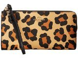 Coach 52938 Print Ocelot Crossgrain Zip Wallet in Tan