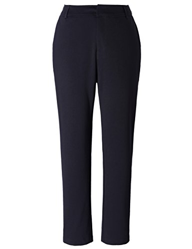 Chicwe Women's Plus Size Stretch Ponte Straight Leg Pants with Pockets - Casual and Work Pants Trousers 18 by Chicwe