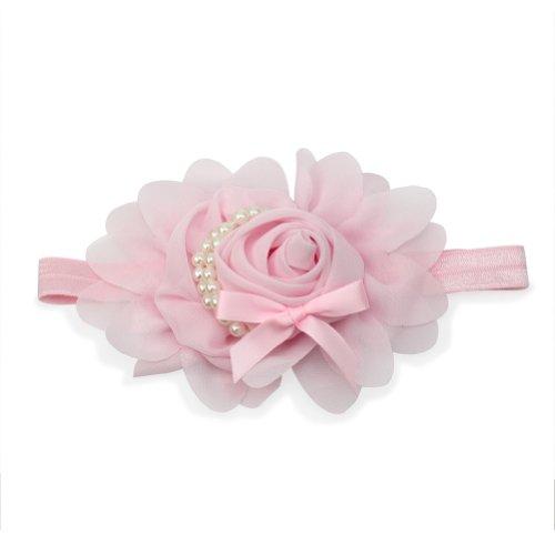 Pinzhi Lovely Blumen Baby hübsch Kleinkind Gummi Rosa Rose Hairband Pink