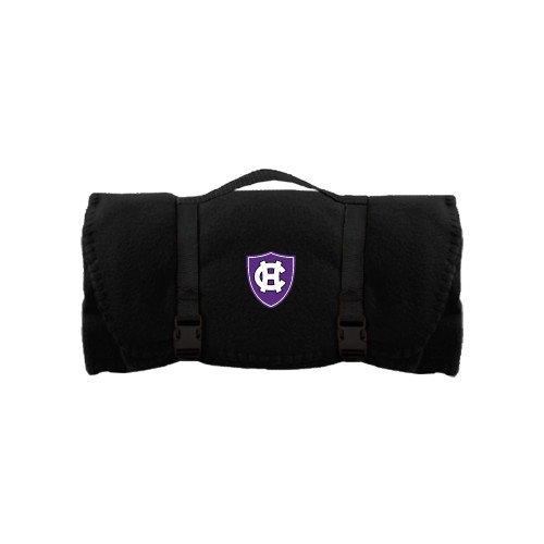 Holy Cross Black Arctic Fleece Blanket 'HC Shield' ()
