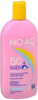 NO-AD Baby Sunscreen Lotion SPF 50 - 13 oz, Pack of 5