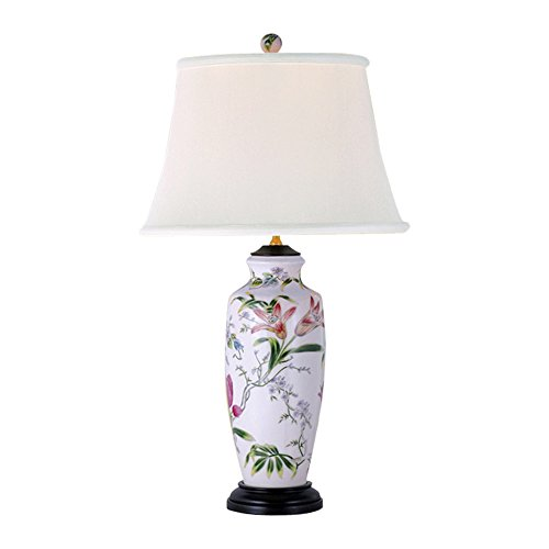 - East Enterprises LPDBHH1015C Vase Table Lamp - White