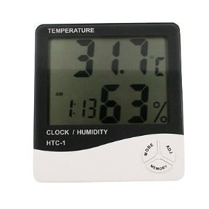 Generic GEN60528 Temperature and Humidity Meter with Alarm Clock Hygrometer
