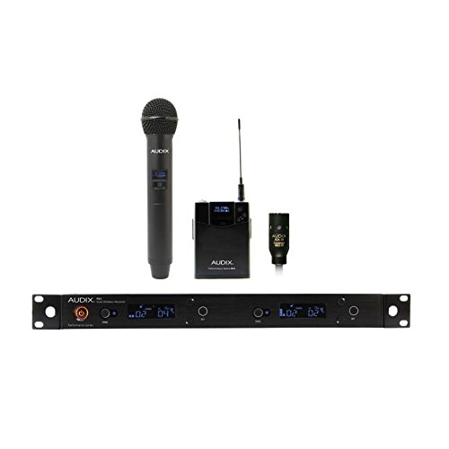 Audix AP62 C210 R62 Two Channel True Diversity Receiver, H60/OM2 Handheld Transmitter and B60 Bodypack Transmitter with ADX10 Lavalier Microphon