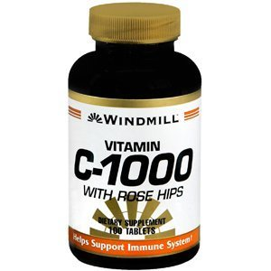 WINDMILL VITAMIN C 1000 MG ROSE HIPS 100'S