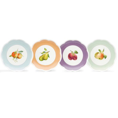 Bloom Round Serving Plate - Lenox Orchard in Bloom Dessert Plate, Set of 4