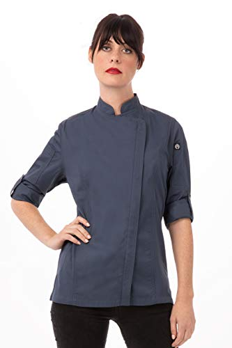 Chef Works Women's Hartford Chef Coat, Blue, Medium from Chef Works