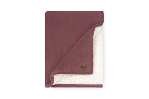 UGG Bliss Plush Sherpa Fleece - Reversible Throw Blanket, Dusty Rose