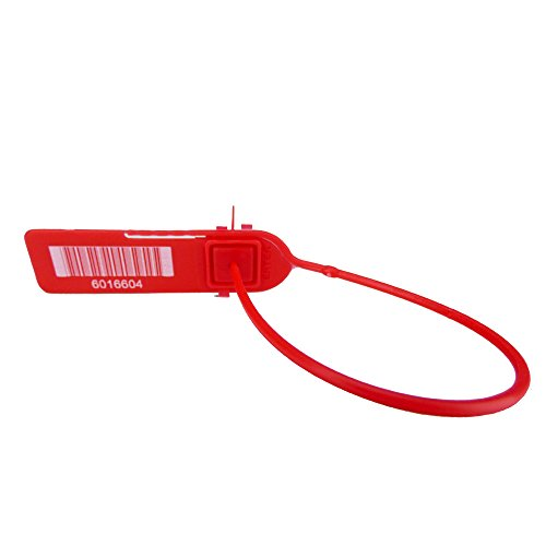 Red Pull-Tight Barcode Security Seals 8'', 1,000 Seals by CAROUSELCHECKS (Image #1)
