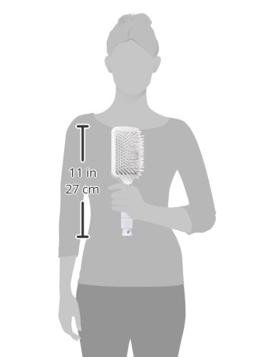 T3 - Smooth Paddle Hair Brush | Professional Cushioned Paddle Brush for Sleek Smooth Blowouts | Heat Resistant Bristles by T3 Micro (Image #8)