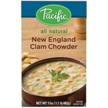 Pacific Foods All Natural New England Clam Chowder Soup, 17 Ounce -- 12 per case.