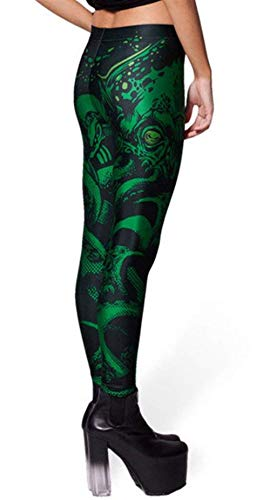 Treggings Las Green M 2 Medias color Mujeres Moda Pantalones Leggings Jeggings Stretch Bleached Verano De Size Elásticos Playa C6fYvwq