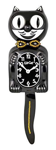 - Kit Cat Klock Limited Edition Gold/Black Swarovski Crystals Jeweled Clock