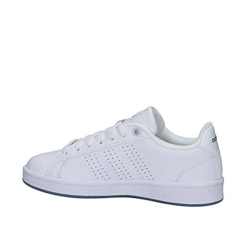 Blanc Femme Ftwbla Plamat Cloudfoam adidas Ftwbla Basses Advantage Sneakers w11SBq