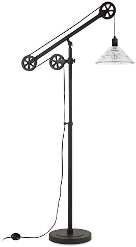Henn Hart FL0157 Modern Industrial Pulley System Blackened Bronze